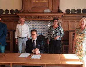 De fractievoorzitters van de coalitiepartijen Zandvoort